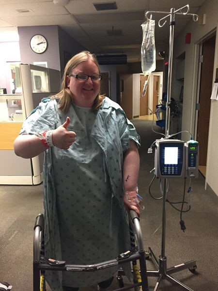 My first walk, post-surgery
